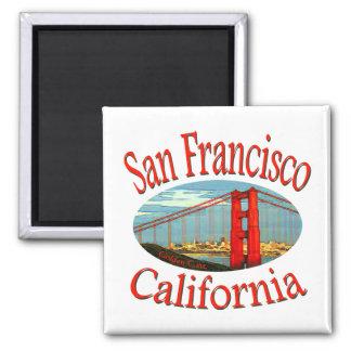 San Francisco la Californie Magnet Carré