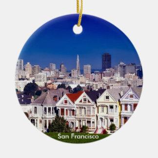 San Francisco landschaftliche Kreis-Verzierung Rundes Keramik Ornament
