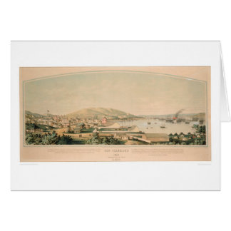 San Francisco, panoramische Karte 1849 (1626A) CA