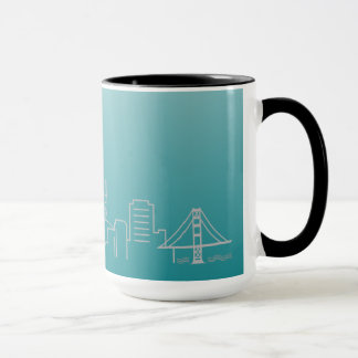 San Francisco silberne Stadtskyline-Wecker-Tasse Tasse