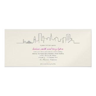 San Francisco Skyline-Hochzeits-oder Karte
