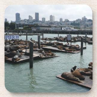 San Francisco und Seelöwe-Stadt-Skyline des Getränkeuntersetzer