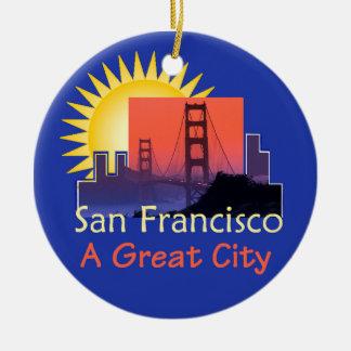 SAN FRANCISCO Verzierung Keramik Ornament