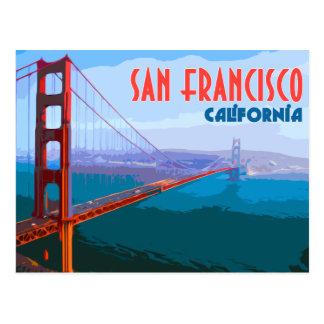 San Francisco Vintage Reise-Postkarte Postkarte
