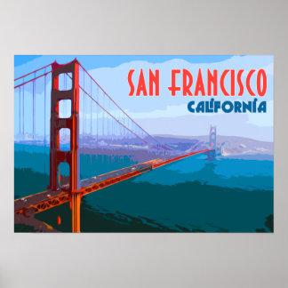 San Francisco Vintages Reise-Kunst-Plakat Poster