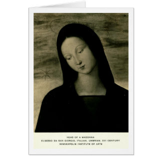 San Giorgio, Kopf von Madonna Karte