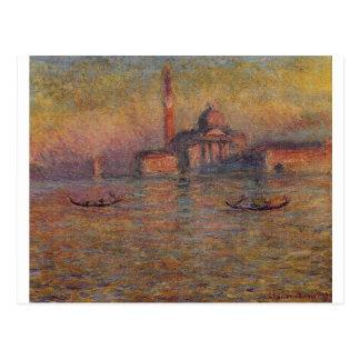 San Giorgio Maggiore 2 durch Claude Monet Postkarte