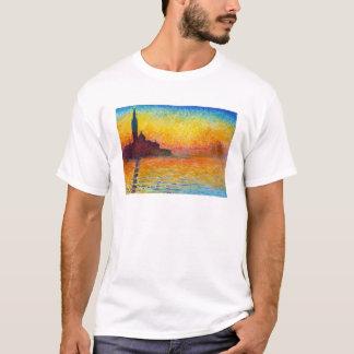 San Giorgio Maggiore an der Dämmerung Claude Monet T-Shirt