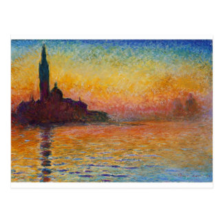 San Giorgio Maggiore an der Dämmerung durch Claude Postkarte