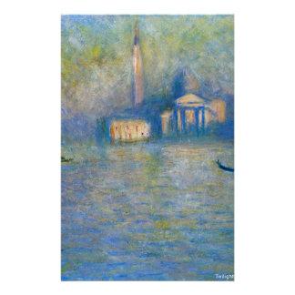 San Giorgio Maggiore, Dämmerung durch Claude Monet Briefpapier