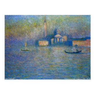 San Giorgio Maggiore, Dämmerung durch Claude Monet Postkarte