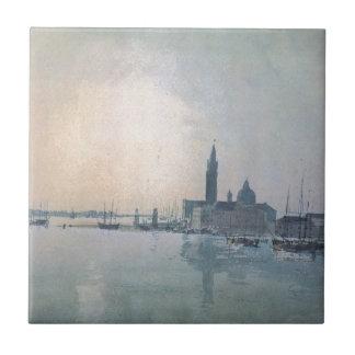 San Giorgio Maggiore morgens William Turner Keramikfliese