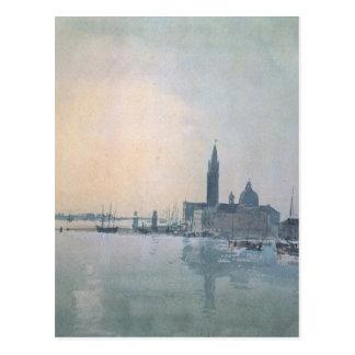 San Giorgio Maggiore morgens William Turner Postkarte