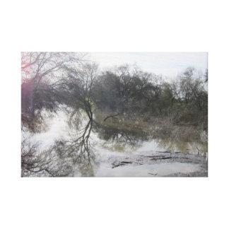 San Joaquin River, Lathrop, CA 1 Leinwanddruck