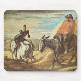 Sancho Panza, Don don Quichotte par Honore Daumier Tapis De Souris