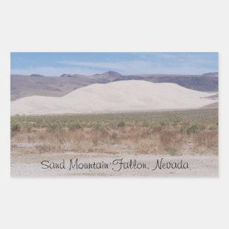 Sand-Berg Fallon, Nevada Rechteckiger Aufkleber