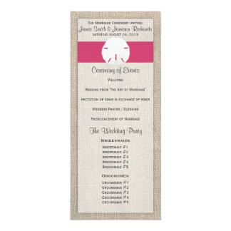 Sand-Dollar-Strand-Hochzeits-Programm - 10,2 X 23,5 Cm Einladungskarte