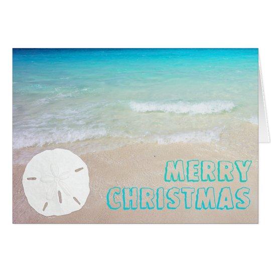 Sand-Dollar-Strand-tropische Weihnachtskarten Grußkarte