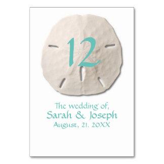 Sand-Dollar-Wedding Tischnummer