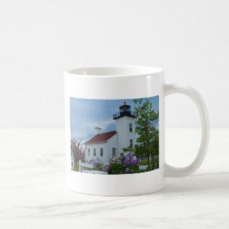 Sand-Punkt-Leuchtturm Kaffeetasse