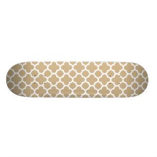 Sand Quatrefoil Gitter-Muster Skateboard Brett