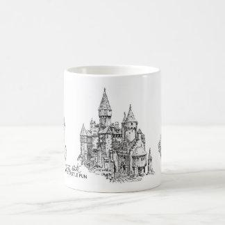 Sand-Schloss-Spaß-Kaffee-Tasse Kaffeetasse
