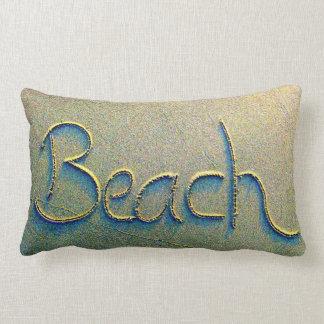 Sand-Schreibens-Strand Lendenkissen