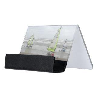 Sand-Yachting Schreibtisch-Visitenkarte-Halter Schreibtisch-Visitenkartenhalter