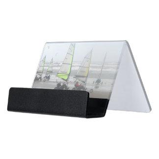 Sand-Yachting Schreibtisch-Visitenkartenhalter