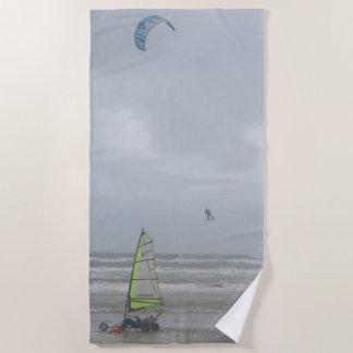 Sand Yachting u. Drachen-surfendes Badetuch