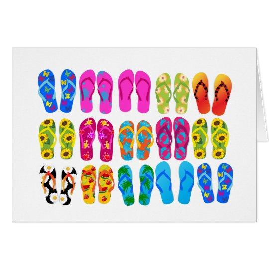 Sandale-bunter Spaß-Strand-Thema-Sommer Mitteilungskarte