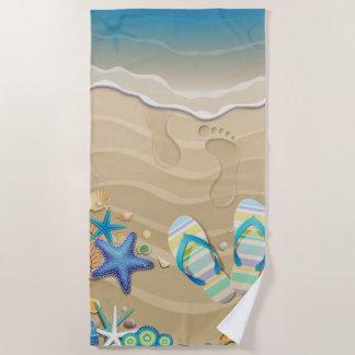 Sandale-Strand Strandtuch