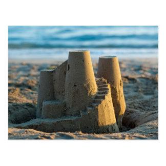 Sandcastle postcard postkarte