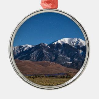 Sanddüne-sternenklare Nacht Mond-Lit-Colorados Silbernes Ornament