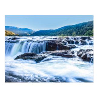 Sandstein-Fälle, West- Virginiapostkarte Postkarte
