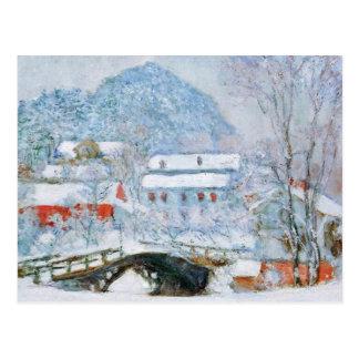 Sandviken Dorf im Schnee durch Claude Monet Postkarte
