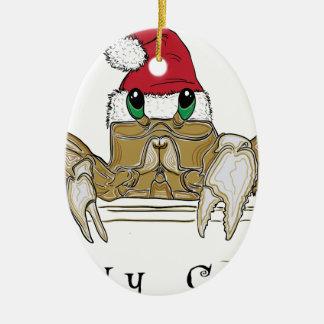 Sandy ClawsTrans Ovales Keramik Ornament