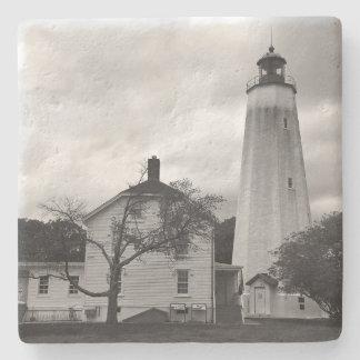 Sandy-Haken-Leuchtturm Steinuntersetzer