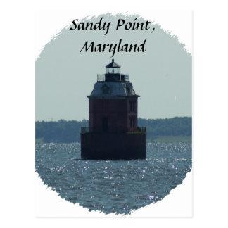 Sandy-Punkt-Leuchtturm Postkarte