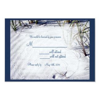 Sandy-Strand-Hochzeit RSVP02 8,9 X 12,7 Cm Einladungskarte