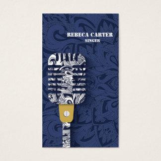 Sänger-Karaoke-Spieler-Musik-Künstler-Karte Visitenkarte