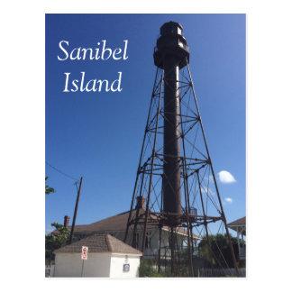 Sanibel Insel-Leuchtturmpostkarte Postkarte