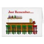Sankt Bar-Schemel-lustige Weihnachtskarte Grußkarte