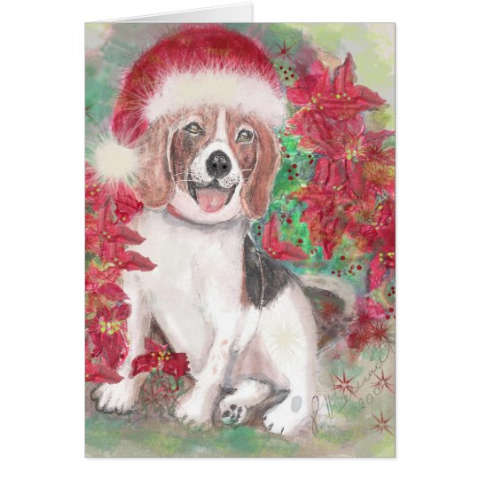 Sankt-Beagle Grußkarte