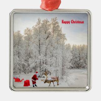 Sankt-Bild für Erstklassig-Quadrat-Verzierung Silbernes Ornament