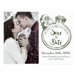 Sankt-Diamant-Ring-Save the Date Karte
