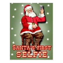 Sankt erstes Selfie Postkarte