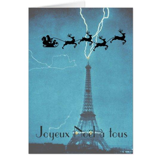 Sankt-Fliegen hinter dem Eiffelturm Mitteilungskarte