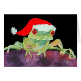 Sankt-Frosch Weihnachtskarte Grußkarte