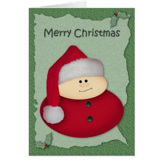 Sankt-Großdruck-Weihnachtskarte Grußkarte